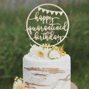 Happy Quarantine Birthday Cake Topper