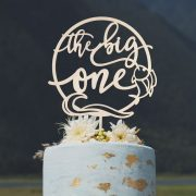 The Big One Birthday Cake Topper by Thistle and Lace Designs Inc.
