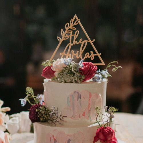 Custom Triangle Cake Topper by Thistle and Lace Designs Inc