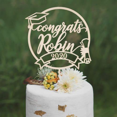 Custom Congrats Graduation Cake Topper