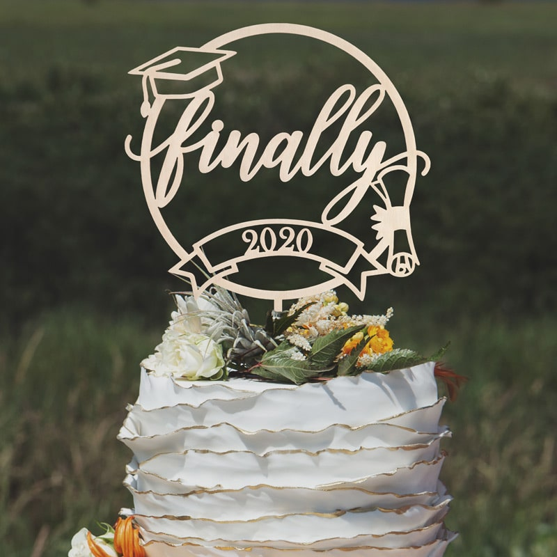 Finally Graduation Cake Topper by Thistle and Lace Designs Inc