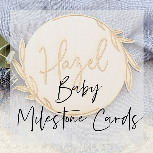 Baby Milestone Cards by Thistle and Lace Designs Inc.