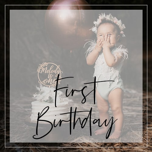 First Birthday Cake Toppers by Thistle and Lace Designs Inc.