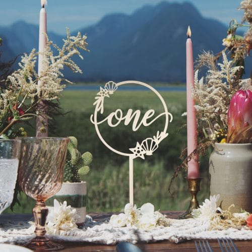 Beach-Themed Wedding Table Numbers by Thistle and Lace Designs Inc
