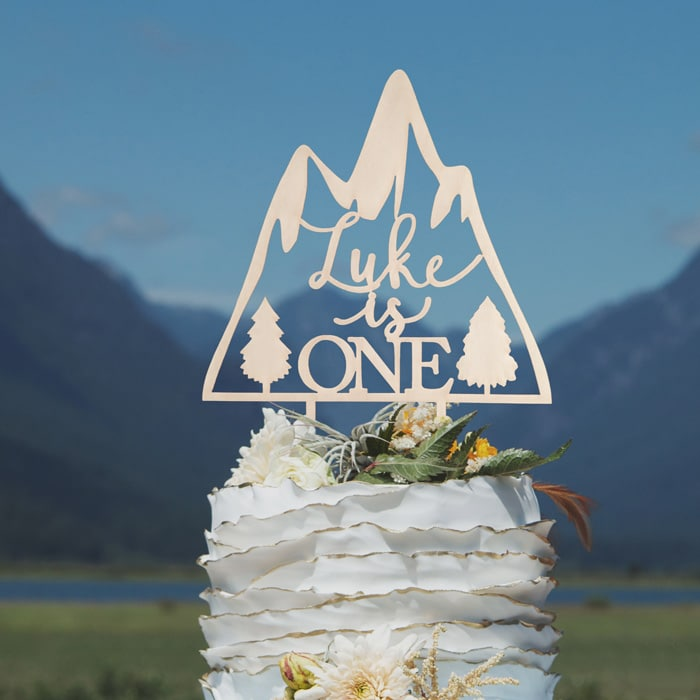 first birthday mountain cake topper by Thistle and Lace Designs Inc