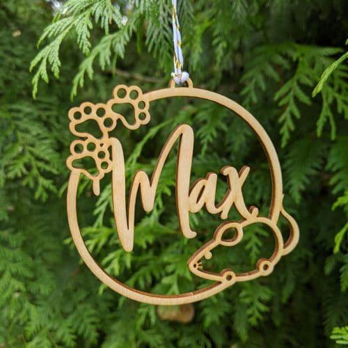 Custom Cat Christmas Ornament