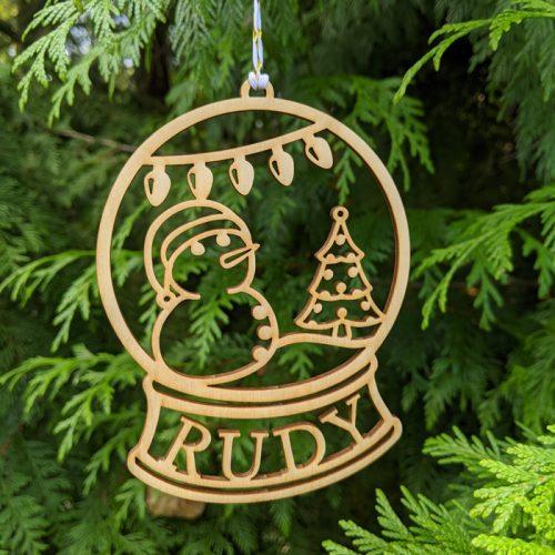 Snow Globe Christmas Ornament