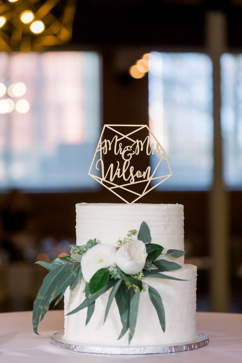 Geometric mr and mrs wedding cake topper by Thistle and Lace Designs Inc.