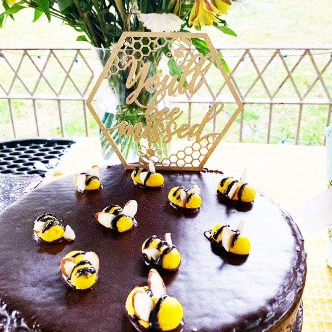You'll Bee Missed Retirement Cake Topper