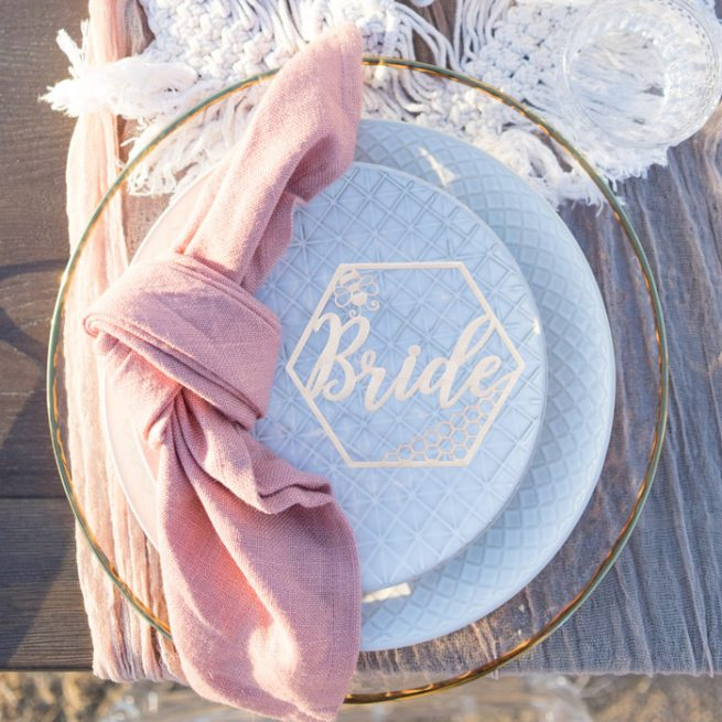 Bee-Themed Wedding Seat Names by Thistle and Lace Designs