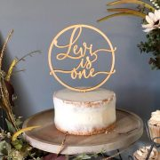 Personalized First Birthday Cake Topper by Thistle and Lace Designs Inc.