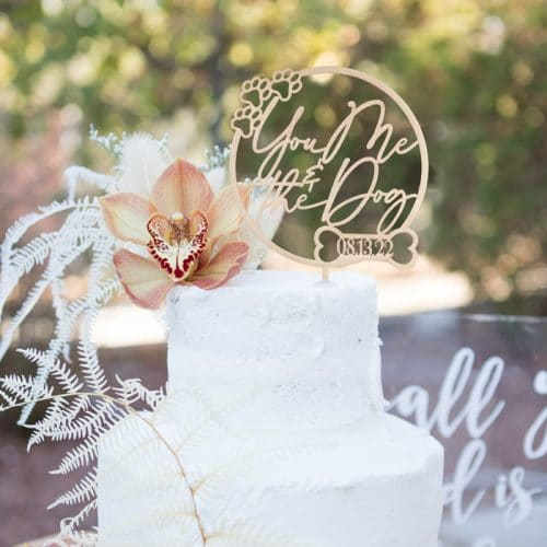 You me and the dog wedding cake topper by Thistle and Lace Designs Inc.