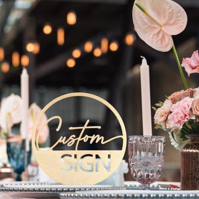 Custom Modern Wedding Sign