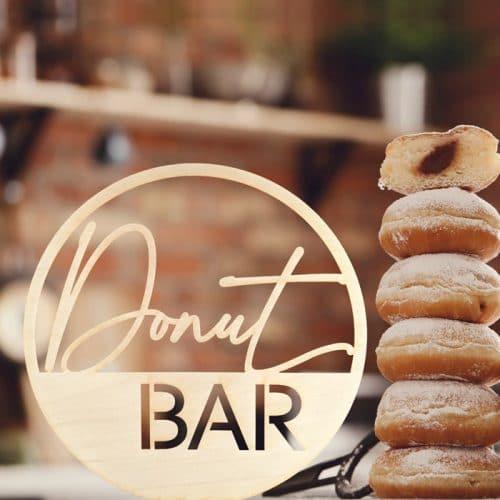 Modern Donut Bar Wedding Sign