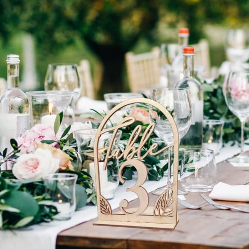 Fall Wedding Table Numbers by Thistle and Lace Designs Inc.