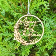 Baby's First Christmas Tree Ornament by Thistle and Lace Designs Inc