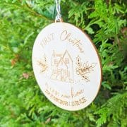 First Christmas in our New Home Ornament by Thistle and Lace Designs Inc