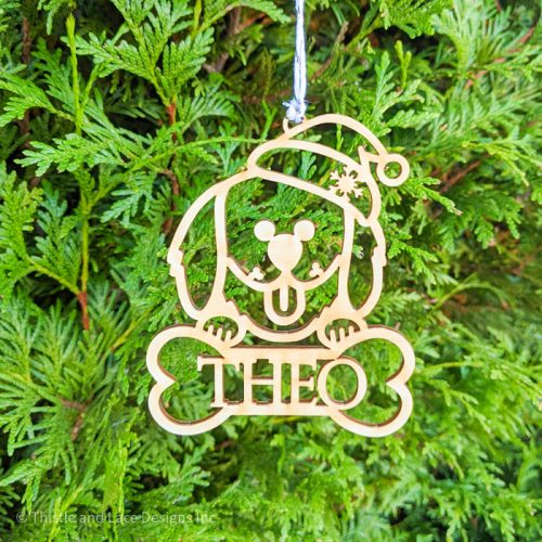 Golden Retriever Christmas Tree Ornament by Thistle and Lace Designs Inc