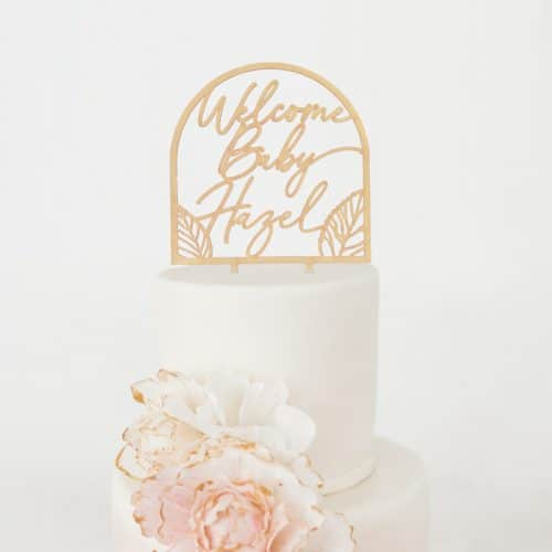 Welcome Baby Fall Baby Shower Cake Topper